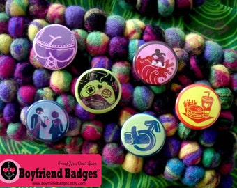 Girlfriend Badges--set of 6