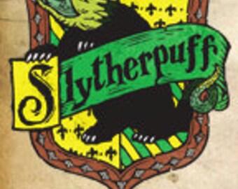 Slytherpuff Cross-House Crest Bookmark