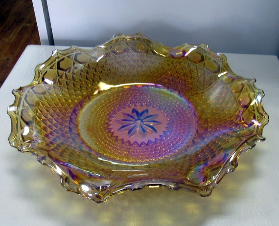 Carnival Glass serving plate