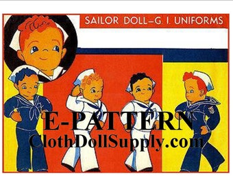 E-Pattern – Sailor Doll with Two Uniforms - Sewing Pattern #EP 9258