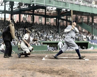 Babe Ruth at bat in the 1920's