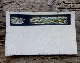 Ceramic Saucer Raku