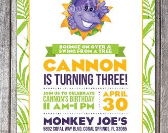 Monkey Joe's Birthday Invitation  #150
