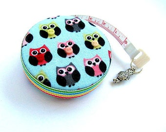 Measuring Tape Tiny Colored Owls Retractable Tape Measure