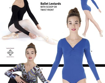Jalie Ballet Leotards with Scoopneck or Twist Front Sewing Pattern #3349 in 22 Sizes for Women & Girls