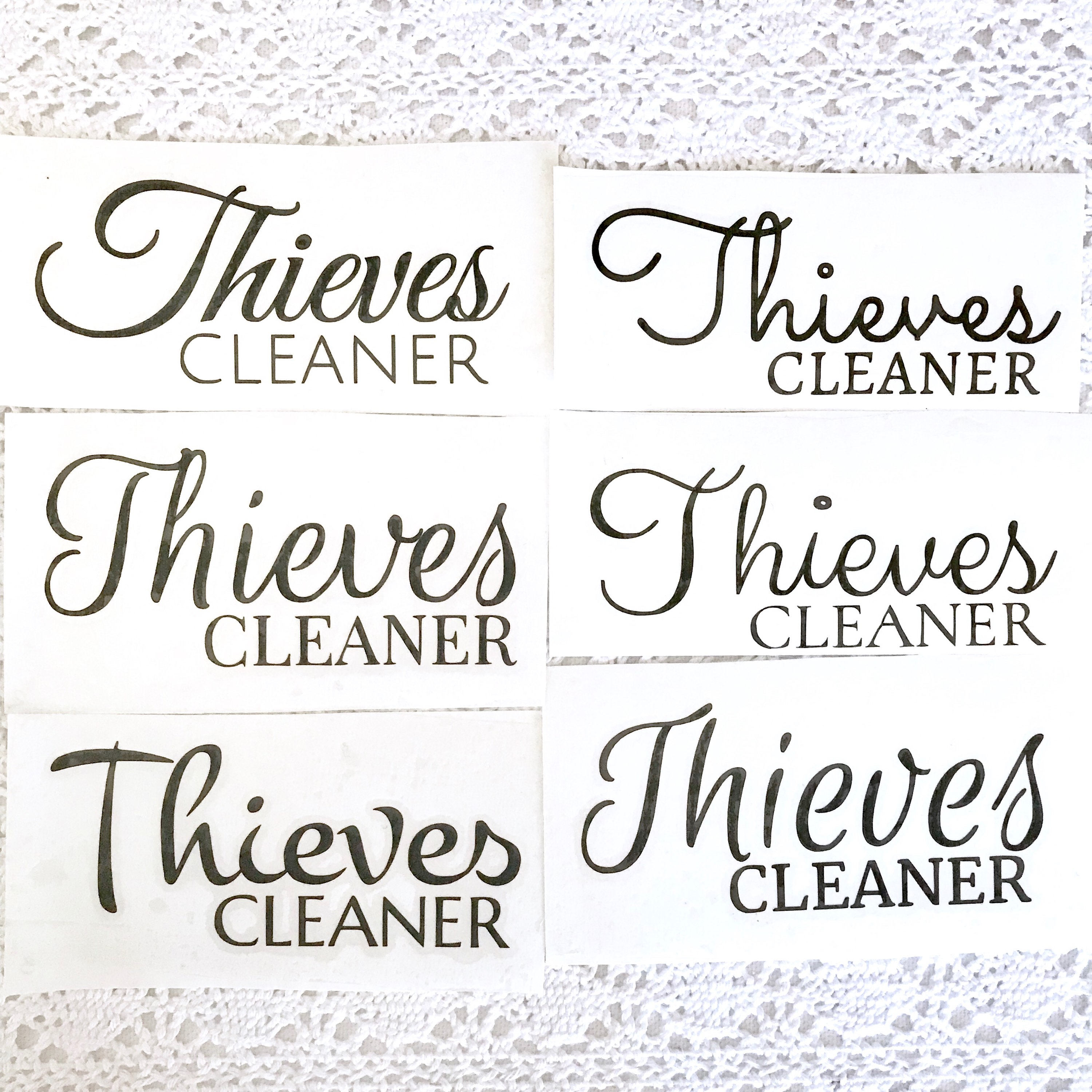 Thieves Cleaner Labels