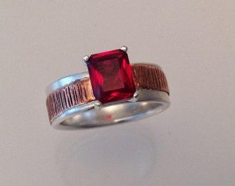Garnet ring, Rings for women, silver rings for women, January Birthstone Ring- Garnet Ring, Red Garnet Ring, Solitaire Ring