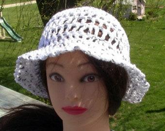 Gift For Her, Summer Beanie, Cotton Sun Hat, Sun Hat, Beach Hat, White Cotton Beanie, White Cotton Hat, White Beach Hat