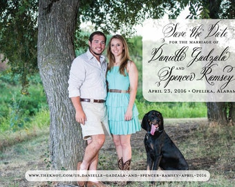 100 Custom Designed Save the Date Magnets