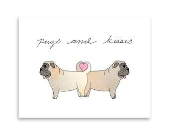 Funny Pug Greeting Card / Pug Card / Funny Card / Dog Mom / Dog Person / Love Card / Misha Marie Art