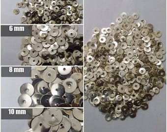 10000 SILVER Sequins Paillette Spangles - 2mm 4mm 6mm 8mm 10mm - Flat Round Sewing Craft DIY Embroidery
