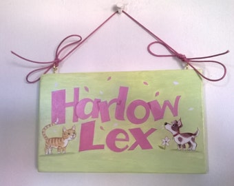 Harlow Lex name plaque