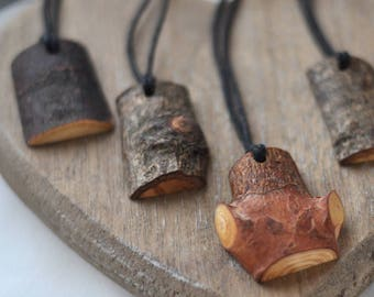 wooden pendant •  linden or/ pine or/ birch or/ oak or/ cherry wood necklace  •   wood pendant  •  wooden necklace