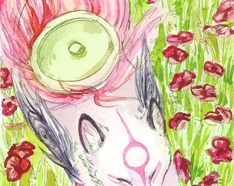 Okami Poppy Field print