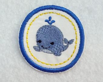 Whale Badge, Iron On Badge, Merit Badge, Whale Merit Badge, Swimmer Badge, Little Whale Patch, Whale Patch, Whale Iron On Patch, Blue Whale