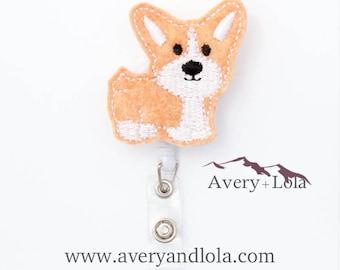 Corgi Badge Reel, Dog Badge Reel, Corgi ID Holder, Dog ID Holder, ID Badge Holder, Cute Badge Reels