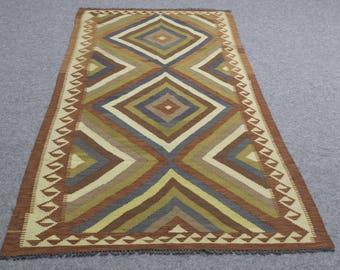 Rug Sale  3 x 8  Turkish Kilim  ethnic floor rug handmade  carpet oriental, woo boho area  bohemian rugs  turkish carpet living room