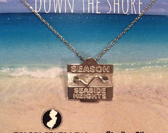 Seaside Heights - Jersey Shore Sterling Silver Beach Badge Necklace