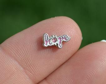 1 Memory Locket Pink HOPE Charm   FL484
