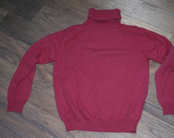 Turtle-Neck, cow-neck and MOCK turtleneck sweaters. 100% Pure Cashmere.  No holes, Multiple sizes, colors- purple, pink, black, red.