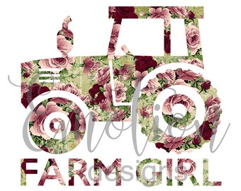 Farm Girl PNG, instant download, Sublimation Graphics, Clipart