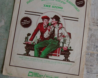 GLADIOLUS RAG Sheet Music From The Sting Movie Paul Newman and Robert Redford 1973 Ephemera