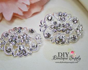 2 pcs Rhinestone Crystal Brooch Embellishment for Brooch Bouquet pins Crystal Wedding Supply Bridal sash pins  35mm 622092