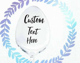 SPOON CUSTOM ORDER / Personalized Spoon / Create your own / Best Seller / Design your Own / Hand Stamped Serving Spoon / Engraved Spoon