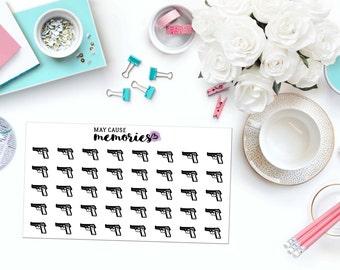 HANDGUN Paper Planner Stickers!