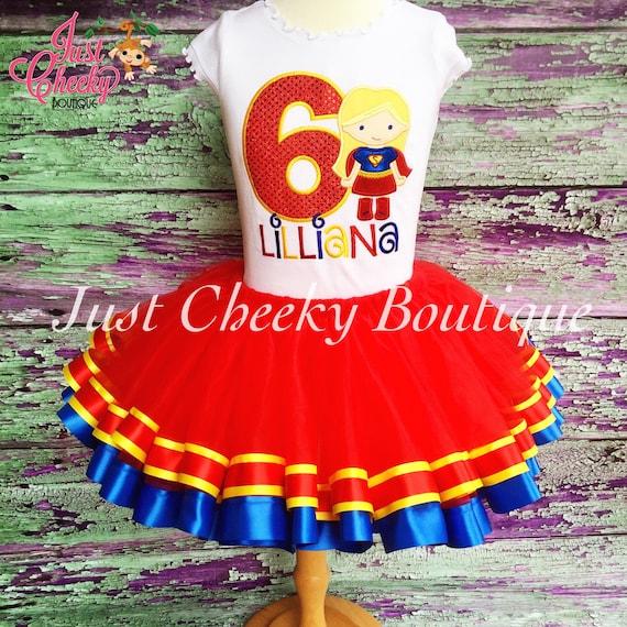 Super Girl Birthday Outfit -Supergirl Birthday Shirt -DC Superhero Girls Birthday -Supergirl Party-Girls Birthday Shirt -Superhero Tutu