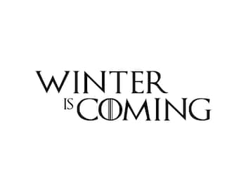 """Game of Thrones Winter Is Coming Decals 4""""-9"""""""
