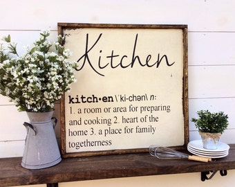 Kitchen Sign Kitchen Definition Sign