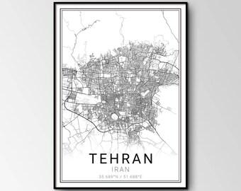 tehran city map