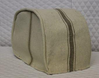 Tan Feedsack Toaster Cover