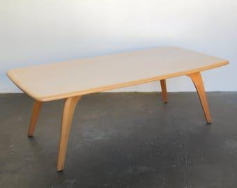 Solid Birch Surfboard Coffee Table By Heywood Wakefield Blonde Solid Wood  Table Vintage Mid Century Modern