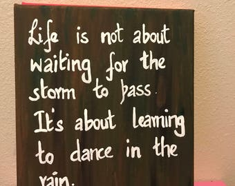 Life is not about - quote