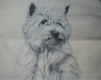 West Highland Terrier cushion cover