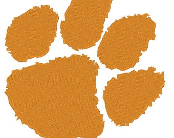 Clemson Tigers Large Hoops Embroidery Design