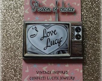 I love Lucy brooch