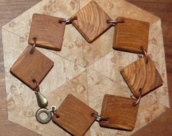 Rustic wood Bracelet: Festival
