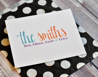 Personalized Family Note Cards - Personalized Family Stationery - Family Cards - Set of Notes - Family Stationary - Modern Family Stationery