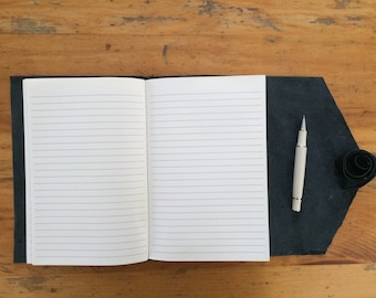 Leather Cover and Journal ~ 8.5 x 5.5, 200 pages ~ refillable: write, travel, guest book