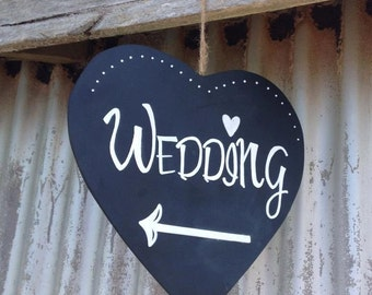 Heart Shaped Chalkboard Sign
