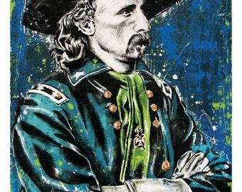 George Custer - 12 x 18 High Quality Art Print