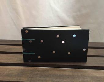 Black & silver dot coptic journal