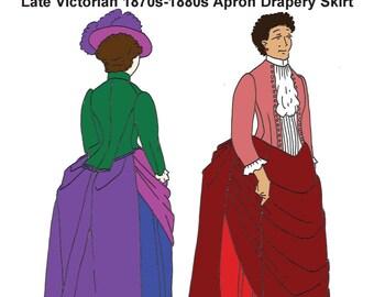 RH960 — Late Victorian (1870s-1890s) Apron Drapery Overskirt