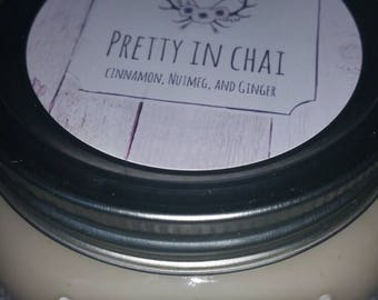 Pretty in Chai soy candle