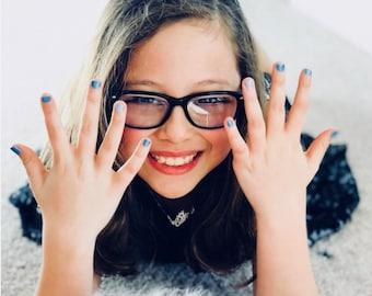 Roxx for Kids - Lapiz - Self-Acceptance  - Crystal Infused Nail Polish - Non-Toxic - Vegan - Crystal Energy
