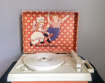 Vintage Nancy and Clancy Record Player 60s Children's Record Player Child's Record Player