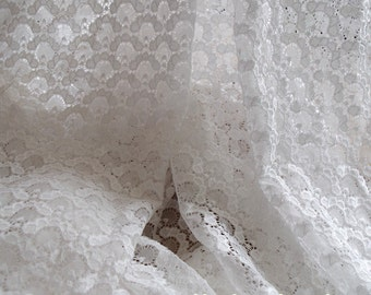 white Lace Fabric by the Yard